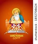 illustration of guru nanak... | Shutterstock .eps vector #1852708624