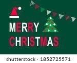 Merry Christmas Card. Flat...