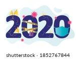 2020 year. big numbers. crazy ... | Shutterstock .eps vector #1852767844