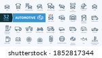 automotive icons pack. thin... | Shutterstock .eps vector #1852817344
