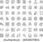 thin outline vector icon set... | Shutterstock .eps vector #1852837801