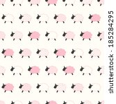 Seamless Sheep Cartoon Pattern