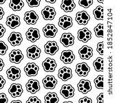 pet prints. paw seamless... | Shutterstock .eps vector #1852847104
