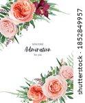 vector floral wedding invite ...   Shutterstock .eps vector #1852849957