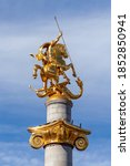 Golden Monument Of St. George...