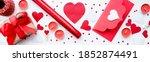 Banner. Valentine's Day. Flat...