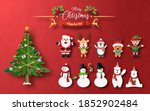 merry christmas and happy new...   Shutterstock .eps vector #1852902484