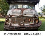 Front View Of Rusty Old Logging ...