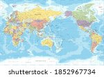 world map   pacific view   asia ... | Shutterstock . vector #1852967734