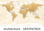 world map   vintage physical...   Shutterstock . vector #1852967824