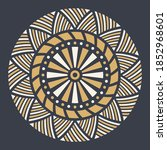 abstract circular ornament.... | Shutterstock .eps vector #1852968601