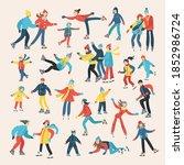 vector cartoon set on the theme ... | Shutterstock .eps vector #1852986724