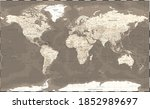 world map vintage political  ... | Shutterstock .eps vector #1852989697