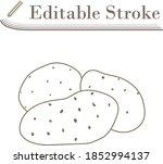 potato icon. editable stroke...