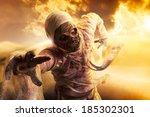 Scary Halloween Mummy In Hot...