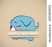 paper cartoon doggy applique... | Shutterstock .eps vector #185302901