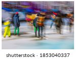 Amsterdam. People Skate In The...