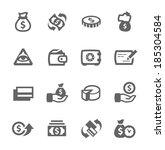 simple set of money related... | Shutterstock .eps vector #185304584