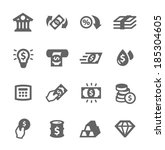 simple set of banking related... | Shutterstock .eps vector #185304605