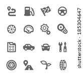 simple set of auto related... | Shutterstock .eps vector #185304647