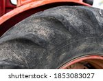 Closeup Of Tractor Wheel Grop...