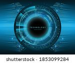 blue cyber circuit future...   Shutterstock .eps vector #1853099284