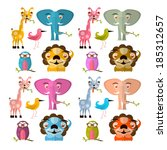 vector animals illustration set ... | Shutterstock .eps vector #185312657