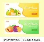 fresh fruits avocado apple...