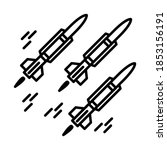 missile icon in trendy outline... | Shutterstock .eps vector #1853156191
