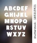 bold alphabet font type. vector ... | Shutterstock .eps vector #185315921