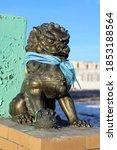 Buddhist Snow Lion Bronze...