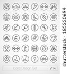 vector thin sport icons design... | Shutterstock .eps vector #185320694