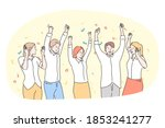 party  having fun  celebration  ... | Shutterstock .eps vector #1853241277