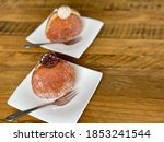 Filled Doughnuts Decorated Wit...