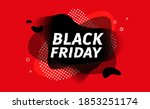 black friday sale banner.... | Shutterstock .eps vector #1853251174