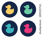 Duck flat icon. Vector illustration - stock vector