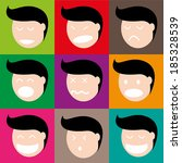 the human face in various... | Shutterstock .eps vector #185328539