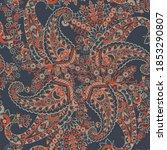 seamless paisley pattern in... | Shutterstock . vector #1853290807