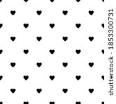 heart seamless pattern . black...   Shutterstock .eps vector #1853300731