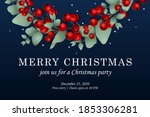 merry christmas web page... | Shutterstock .eps vector #1853306281