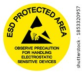 esd protection area observe... | Shutterstock .eps vector #1853320957