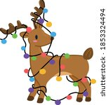reindeer with colourful... | Shutterstock .eps vector #1853324494