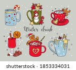 colorful set of hot winter... | Shutterstock .eps vector #1853334031