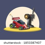 rc car buggy with remote...   Shutterstock .eps vector #1853387407