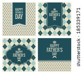 abstract happy father's day on... | Shutterstock .eps vector #185339171