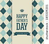 abstract happy father's day on... | Shutterstock .eps vector #185339201