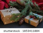 gifts christmas decorations... | Shutterstock . vector #1853411884