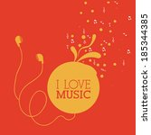 music design over red... | Shutterstock .eps vector #185344385