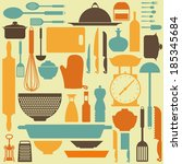abstract kitchen tools making a ...   Shutterstock .eps vector #185345684