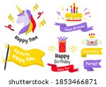 party label vector logo for... | Shutterstock .eps vector #1853466871